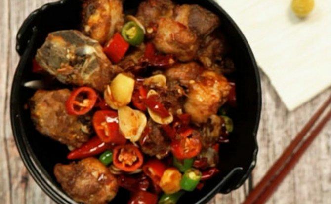 家常菜-干锅排骨做法